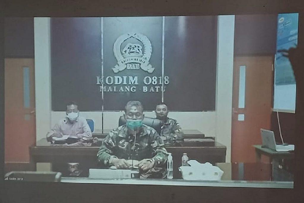 Kasdim 0818/Kabupaten Malang-Kota Batu dan jajarannya. (rhd) - Kodim 0833 dan Kodim 0818 Ajak Wartawan Perangi Hoaks