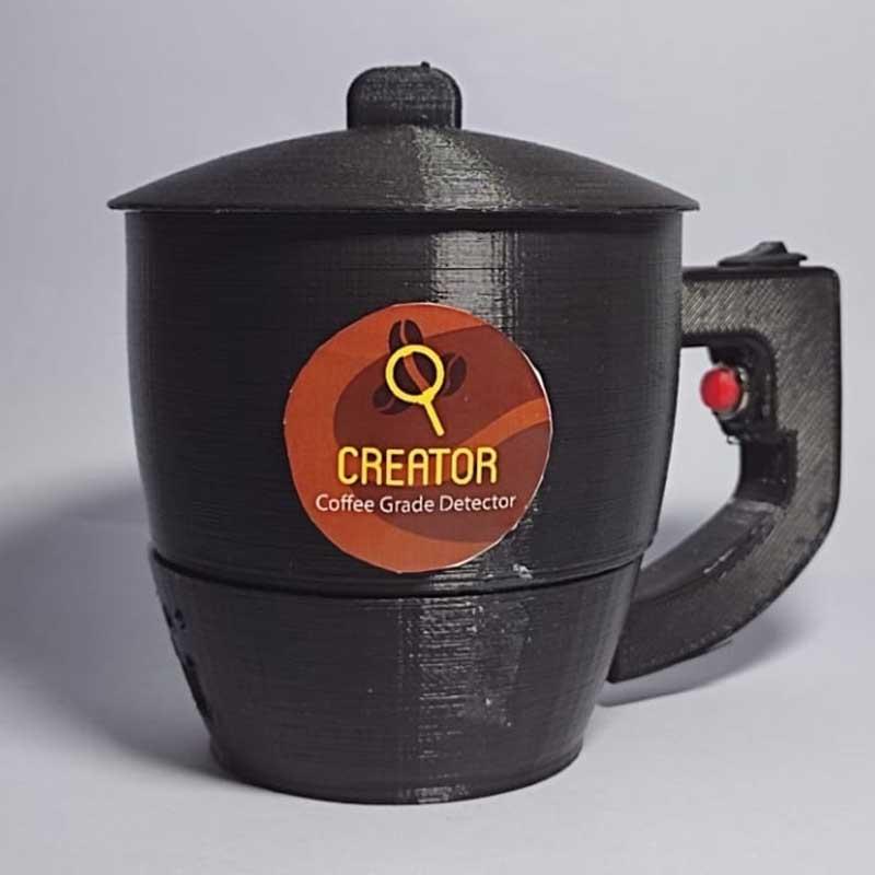 Cangkir unik CREATOR, pendeteksi kualitas biji kopi. (ist) - Mahasiwa UB Ciptakan CREATOR, Cangkir Pendeteksi Kualitas Biji Kopi