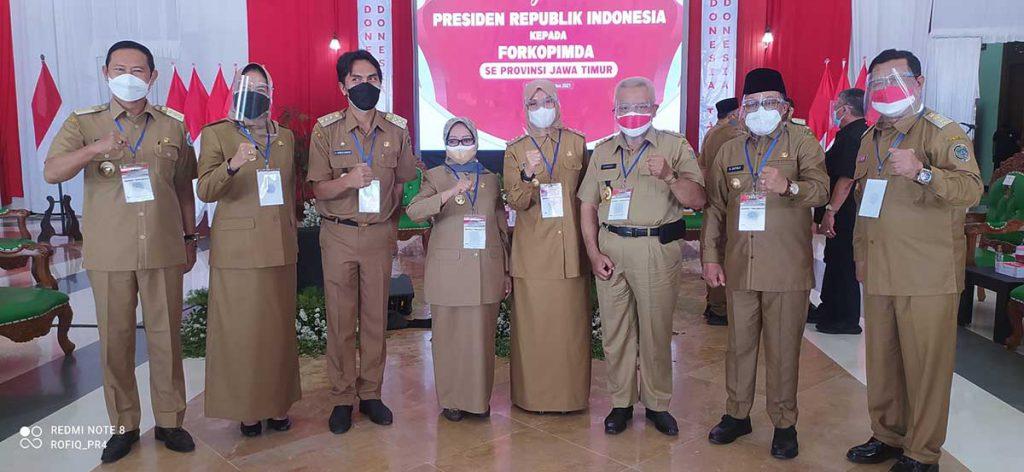 Jajaran Forkopimda Malang Raya turut hadir langsung. (ist) - Disetujui Presiden Jokowi, Walikota Sutiaji Tingkatkan BOR Kota Malang