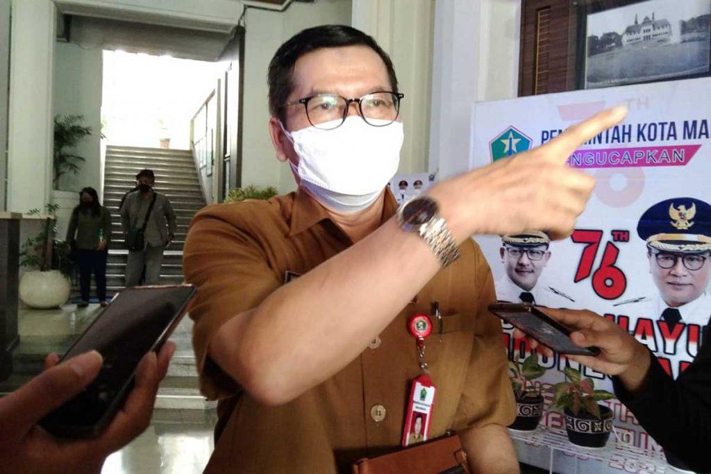 Kadinkes Kota Malang, dr Husnul Muarif, beberkan update ibu hamil terpapar covid-19. (jaz) - Ibu Hamil Terpapar Covid-19 Bisa Ditangani Melalui Puskesmas - Bidan Wilayah