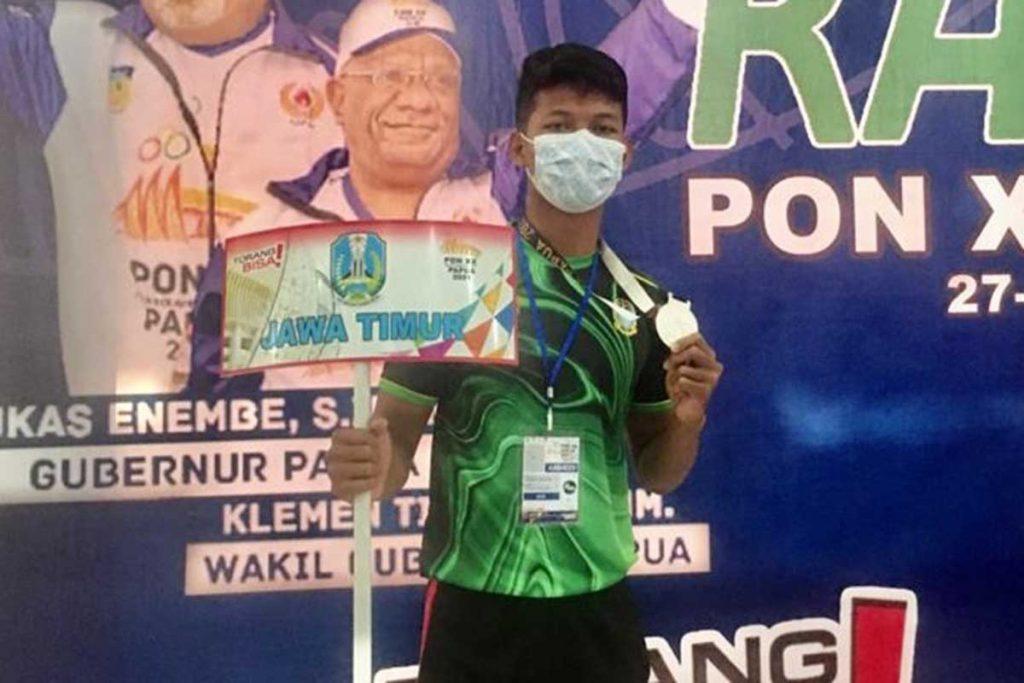 David Rinekso Pribadi, menyumbangkan medali perak cabor Kabaddi. (ist) - Mahasiswa UM Sumbang Medali di PON XX Papua 2021